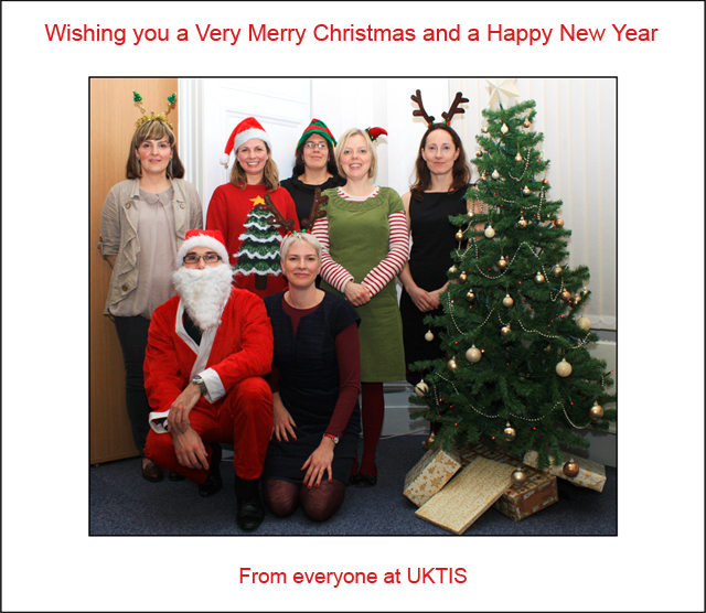 A Very Merry Christmas and a Happy New Year. From everyone at UKTIS